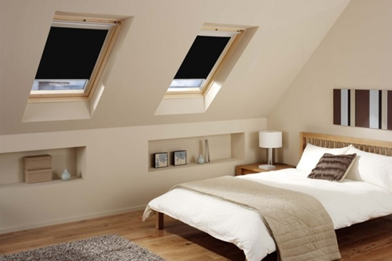 Attic Bedroom Design Ideas; Form A Very Softly, And Two Windows On The Side